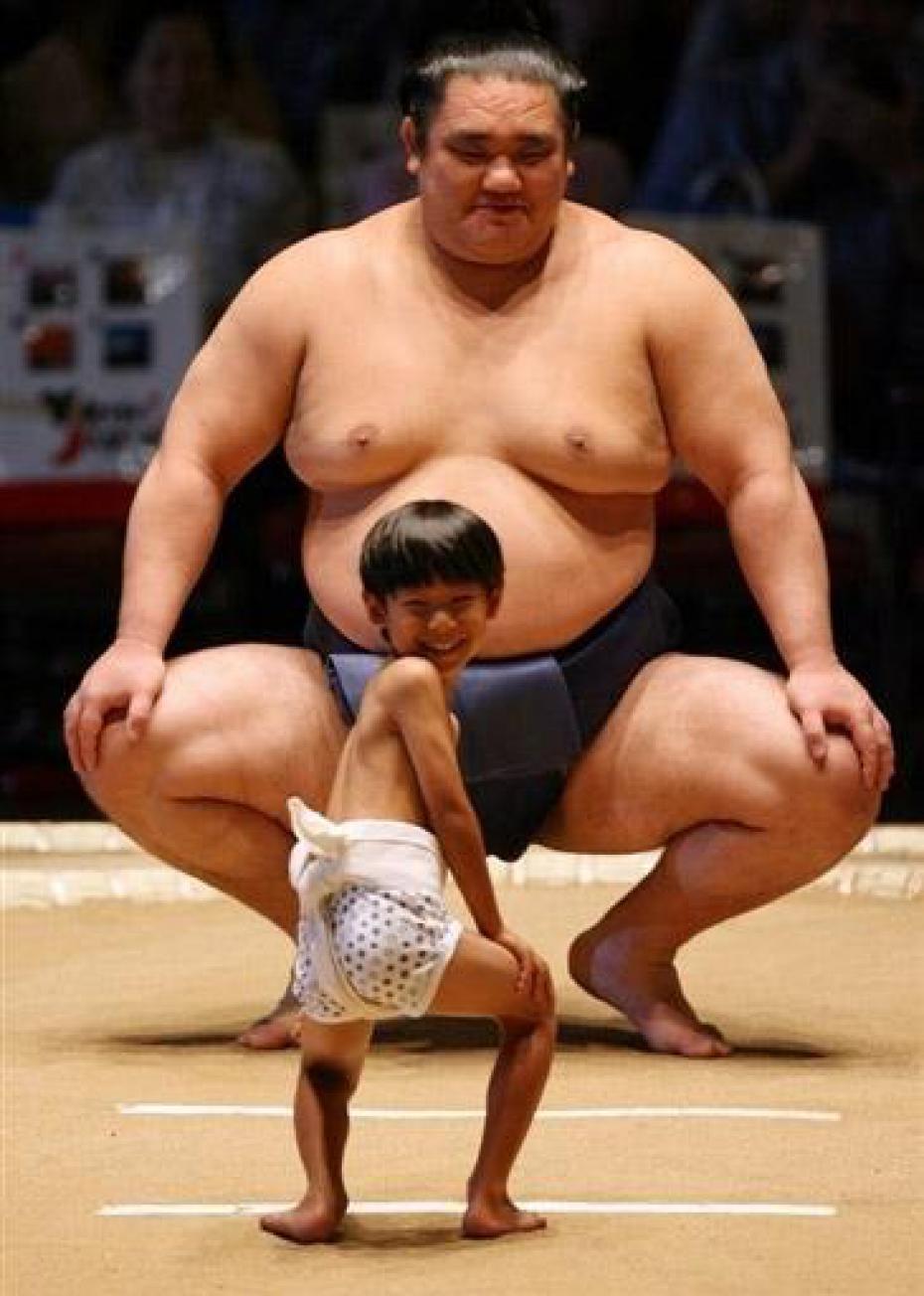 un-sumo-et-un-enfant