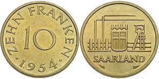 10-franken-1954-saarland