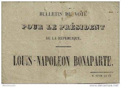 bulletin de vote Napoleon