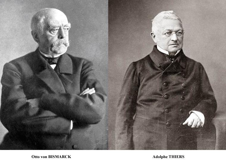 Adolphe Thiers et Otto von Bismarck