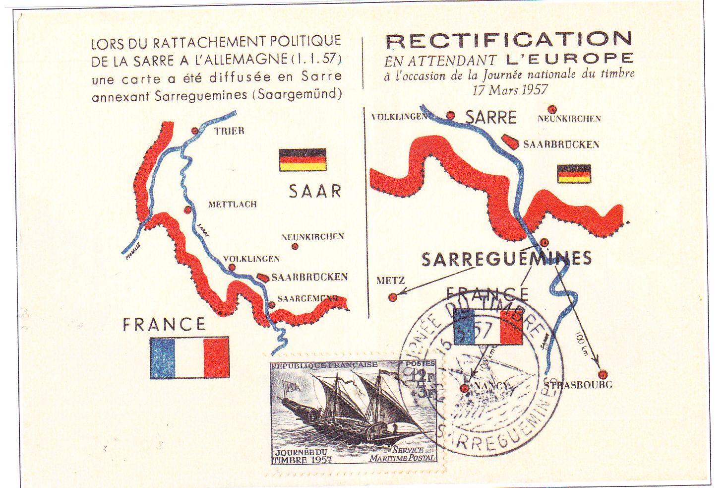 carte postale saar rectifiée
