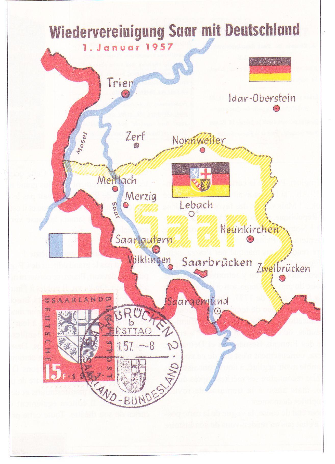 carte postale saar