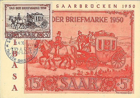 timbre sarre 1950